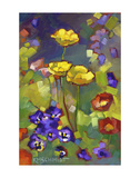 Poppies and Pansies Prints by Karen Mathison Schmidt