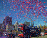 Fans celebrate World Series champion Chicago Cubs at parade & rally in Grant Park, Chicago 11/4/16 Photo