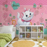 Disney Aristocats - Marie Floral Background Vægplakat i tapetform