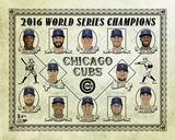 Chicago Cubs 2016 World Series Champions Vintage Composite Fotografía