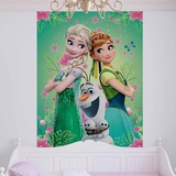 Disney Frozen Fever - Elsa, Anna, Olaf - Vlies Non-Woven Mural Bildtapet