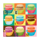 Dream Every Day - Macaroons Giclee Print by Cory Steffen