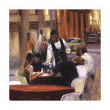 Cuban Street Cafe Giclee Print by Keith Wicks