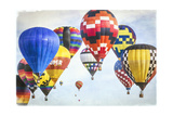 Hot Air Balloons Cluster 2 Art by Lillis Werder