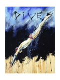 Dive Premium Giclee Print by Marta Wiley