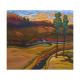 Salmon Run Giclee Print by Don Tiller