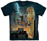 Vincent Hie- Catzilla Vs. Robot T-Shirt