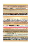 Paper Strip Collage B Print by Natasha Marie