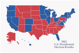 2012 US Presidential Electoral College Map Posters