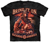 Ryan Lean- Backbone Of America Firefighters T-Shirt