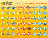 Pokemon- Partner Pokemon Posters