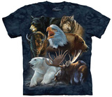 Karen & Rebecca Latham- Wild Alaskan Collage T-shirts