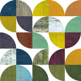 Rustic Rounds 3.0 Wood Print by Michelle Calkins
