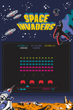Space Invaders- Screen Poster