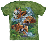 Water Tiger Collage T-shirts