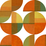 Four Suns Quartered Wall Mural by Michelle Calkins