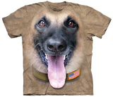 Kenneth Pomichter- Big Face Belgian Malinois T-shirts