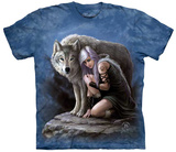 Anne Stokes- Wolven Protector T-skjorter