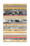 Paper Strip Collage A Prints by Natasha Marie