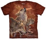 Antonia Neshev- Red Glow Wolf T-Shirt