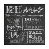 Inspiration Chalkboard III Prints by Mary Urban