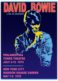 "David Bowie ""Live concerts"" CD promotional poster Print by Bob Masse"