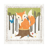 Woodland Hideaway Fox Poster by Moira Hershey