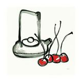 Tea and Cherries Posters by Chris Paschke