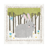 Woodland Hideaway Bunny Posters by Moira Hershey