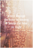Timing Wrong, Love Is Right Posters