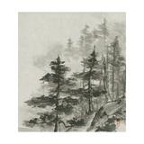 Sumi Treetops Sq Prints by Chris Paschke