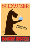 Schnauzer Premium Coffees 限定版アートプリント : ケン・ベイリー