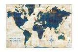World Map Collage Prints by Sue Schlabach