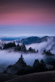Gateway To Heaven, Beautiful Sunset and Fog at Mount Tamalpais, California Photographic Print by Vincent James