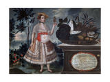 Yapanga Woman from Quito Dressed for Public Life, 1783 Giclee Print by Vicente Alban