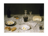 Still Life with Eggs, Bread, Cheese and Wine, Museo Imperial, Petropolis, Rio de Janeiro, Brazil Giclee Print by Agostino Jose Da Mota