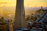 Downtown Detail and Golden Light, San Francisco, Cityscape, Urban View Photographic Print by Vincent James