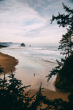 Morning Walk at Cannon Beach, Peaceful Oregon Coast Photographic Print by Vincent James