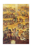 Conquest of Mexico, Spaniards Cut the Hands to the Xicotecas Spies, Museum of America, Madrid Giclee Print by Miguel Gonzalez