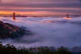 Living in this Dream of Fog and Light, Golden Gate Bridge, San Francisco Fotoprint av Vincent James