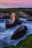 Magic Sunset at Davenport Cove, California Coast Photographic Print by Vincent James