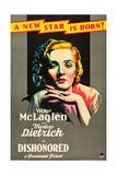 Dishonored, 1931 Giclee Print