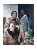 Mestizaje: de Chino Cambujo E India: Loba, 1763, Museo de América, Madrid Giclee Print by Miguel Cabrera