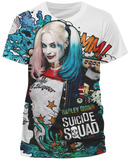 Suicide Squad- Harley Quinn Grafitti (Slim Fit) T-Shirt