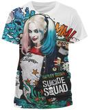 Suicide Squad- Harley Quinn Grafitti (Slim Fit) T-Shirts