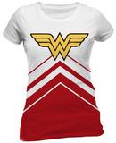 Juniors: Wonder Woman- Cheerleader Logo T-Shirts