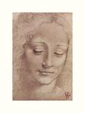Testa Di Giovinetta Giclée-tryk af Leonardo Da Vinci