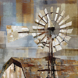 Long Barn - Windmill Giclee Print by Mark Chandon