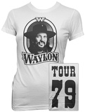 Juniors: Waylon Jennings- Tour 79 Black Logo (Front/Back) Shirts