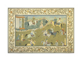 The Polo Match IV Premium Giclee Print by  17th Century School